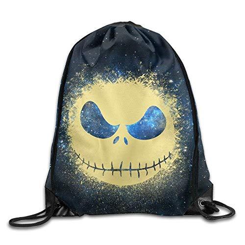 Etryrt-Bags Unisex Turnbeutel/Bedruckte Sportbeutel, Premium Drawstring Gym Bag Rucksack, Gym Jack Skellingtons Old Time Drawstring Backpack Bag