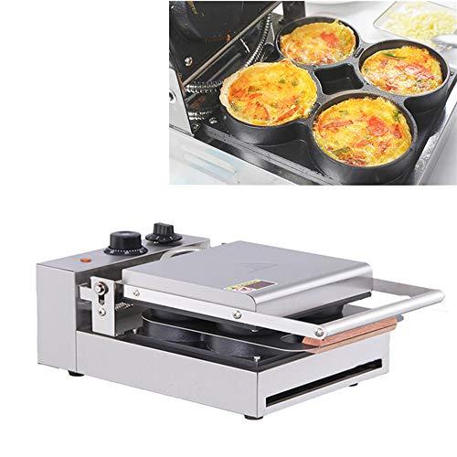 Angela Kommerzielle Pizzamaschine mit 4 Heizplatten, Neuer elektrischer Haushaltsküchenbacksnackautomat für Spiegelei und Melaleuca, für Snackbars