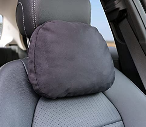 Softest Auto Car Neck Pillow - Plush Headrest Support Cushion for Pain Relief - Black