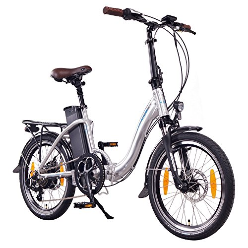NCM Paris - E-Bike 20 Zoll - E-Faltrad - Silber