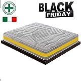 BLACK FRIDAY - Materasso Singolo Memory a 11 Zone Differenziate mod. Eolie MyMemory Ortopedico Certificato Presidio Medico Classe I CON DETRAZIONE FISCALE - 80x190