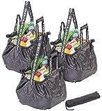 PEARL Shoppingtaschen: 3er-Set Einkaufswagen-Taschen, Befestigungs-Clips & Schultergurt, 20 l (Shoppertaschen)