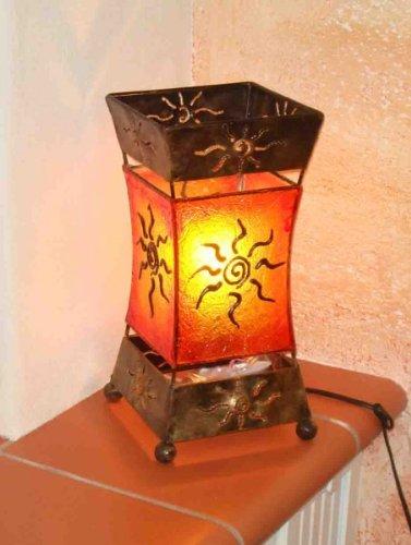 Deko-Lampen Bali Xenia - Lámpara de mesa decorativa (metal y resina)
