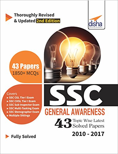 SSC General Awareness Topic-Wise Latest 43 Solved Papers (2010-2017)
