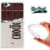 Becool® Fun - Funda Gel Flexible para Wiko Pulp FAB .Carcasa TPU fabricada con la mejor Silicona, protege y se adapta a la perfección a tu Smartphone y con nuestro diseño exclusivo Tableta de chocolate negro