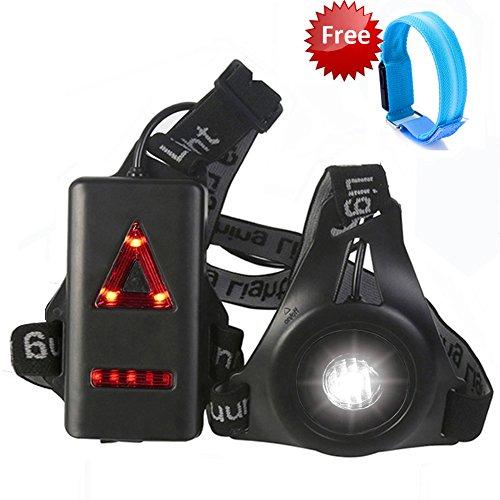 BUTYPAL running Light, LED attenzione petto lampada da notte per corsa, passeggiate, jogging con LED ricaricabili da