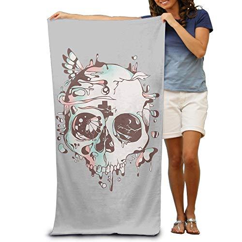 (KHETAMNY Skeleton Skull Colorful Males Towels Funny Bath Towels Clearance Bulk Extra Large Beach Towel Set)