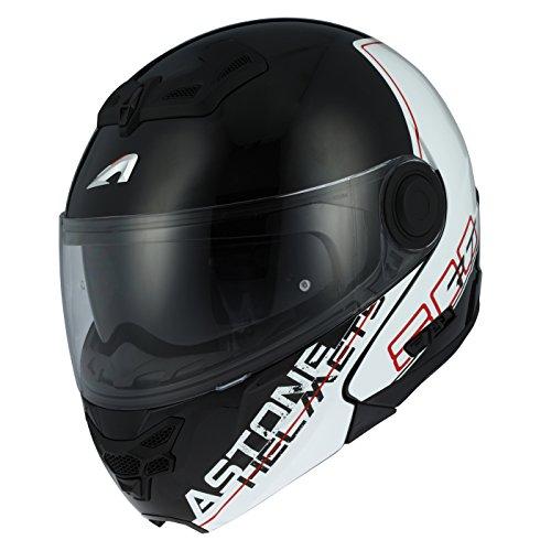 Astone Helmets rt800-line-rwm casco Moto RT 800LINETEK, rojo/blanco, talla M