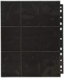 Ultimate Guard UGD010482 - 18-Pocket Pages Side-Loading, schwarz (50)