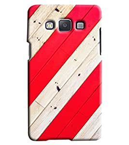 Blue Throat Red And White Stripes Hard Plastic Printed Back Cover/Case For Samsung Galaxy A7