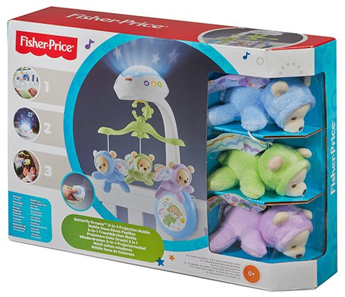 Fisher-Price - Móvil con ositos (Mattel CDN41) -