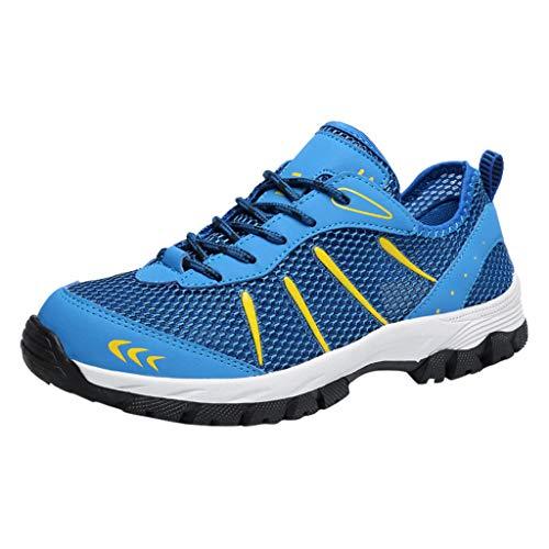 Zarupeng Herren Outdoor Wanderschuhe Atmungsaktive Rutschfeste Sport-Schuhe Leichte Bequeme Laufschuhe Turnschuhe Schnüren Sneakers
