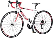 Aster Tra Racing Bike - White Red (700*23C)