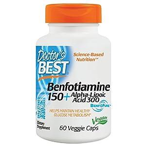51sl3KUAbPL. SS300  - Doctor's Best Best Benfotiamine/Alpha Lipoic Acid 150 Mg/300 Mg 60 Vegetarian Capsules
