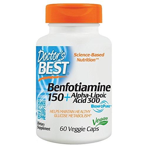 Doctor's Best Best Benfotiamine/Alpha Lipoic Acid 150 Mg/300 Mg 60 Vegetarian Capsules