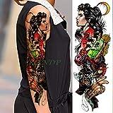 tzxdbh 5Pcs-Etiqueta engomada del Tatuaje Temporal a Prueba de Agua Serpiente Carta Cuerpo Arte Corporal Tatuaje Tatuaje Manga Trasera Tatuaje Hombres y Mujeres 5Pcs-