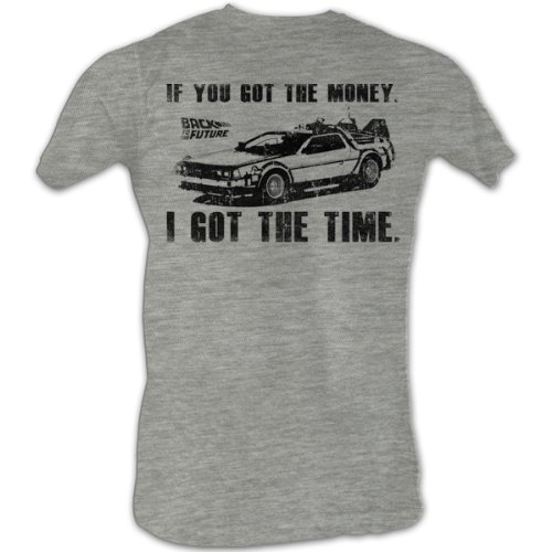 Back To The Future - Men 's Got Da Money T-Shirt In Gray Heather Gray Heather