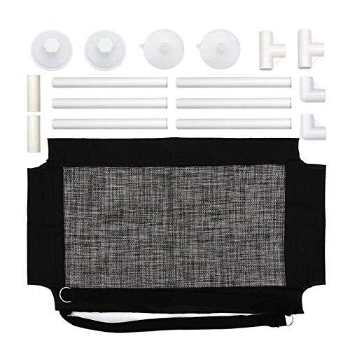 DuDuDu Fenster-Hängematte für Haustierkatze mit Hochleistungs-Saugnäpfen atmungsaktiv bequemes Hängebett