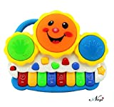 #10: Negi Drum Keyboard Musical Toys with Flashing Lights - Animal Sounds and Songs