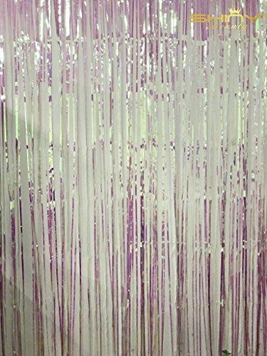ShinyBeauty Foil Fringe Backdrop Curtain 9x8