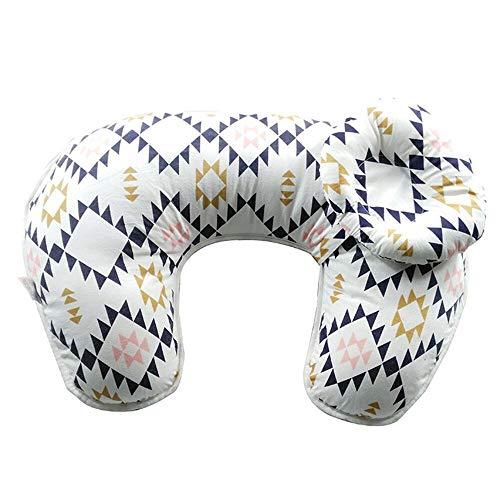LIGHTOP Stillen Kissen Baby Stillkissen Lagerungskissen Baby-Nest und Sitzhilfe mit hochwertigem 100% Baumwoll Bezug Schadstofffrei