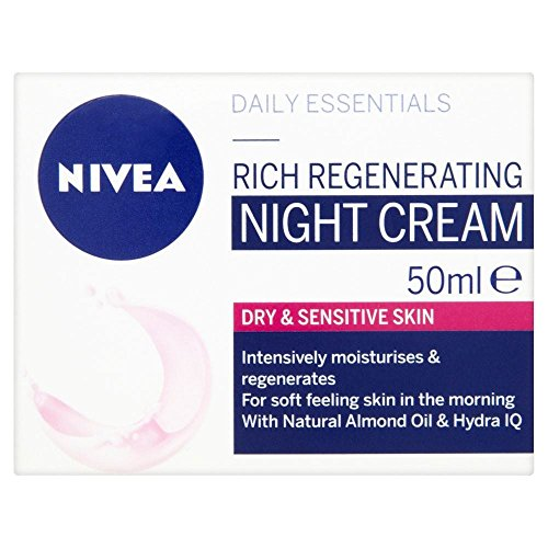 Nivea Visage täglichen Bedarfs Dry & sensible Haut Nachtcreme (50 ml) - Packung mit 6