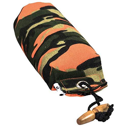Apportier Dummy Camouflage aus Canvas Stoff gut sichtbar und schwimmfähig mit ca. 10 cm Schleuder-Schnur