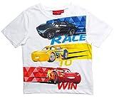 Cars Disney 3 T-Shirt 2018 Kollektion 92 98 104 110 116 122 128 Shirt Kurz Sommer Lightning McQueen Jungen (Weiß, 110-116)