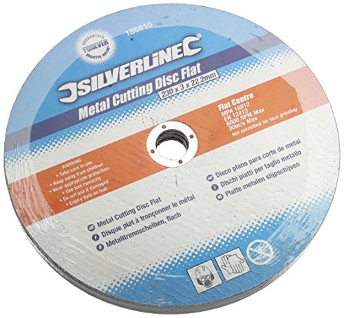 Silverline 186810 Metal Cutting Discs Flat, 230 x 3 x 22.2 mm - Pack of 5 Test