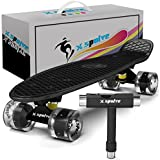 """22"""" Complete Skateboard with Colorful LED Light Up Wheels for Kids,Youths, Beginners"""