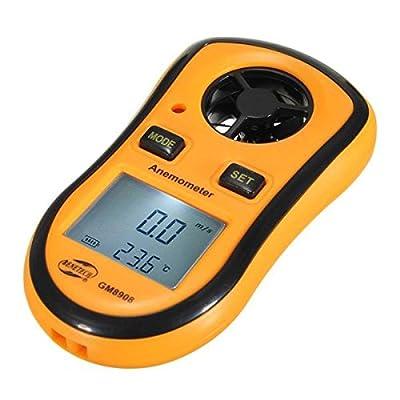 ELEGIANT LCD Tragbar Digital Windmesser Thermometer Anemometer Handwindmesser Windgeschwindigkeit Temperaturmessung für Windsurfing Segeln Angeln Drachenfliegen und Bergsteigen
