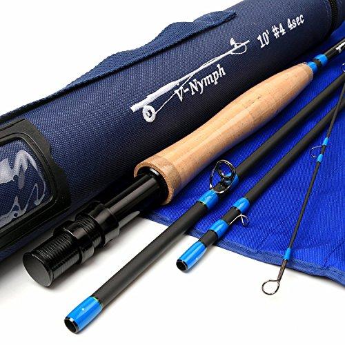 Maxcatch Nymph Fliegenruten 4-teilige IM10 Carbon Nymph Rod Fliegenfischen mit Cordura Tube (4weight 10ft 4piece)