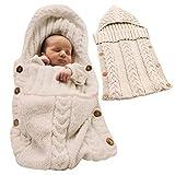 Minetom Saco de Dormir Unisex para Bebés Recién Nacidos Manta para Bebé Carrito de Bebé Blanket Manta para 0 – 12 Meses Beige 72X35 CM