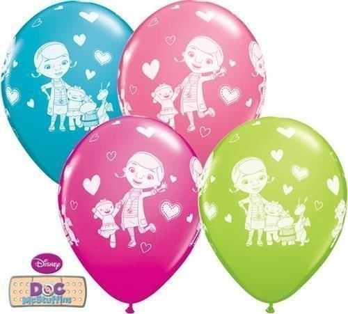 s & Freunde 27.9cm Qualatex Latex Luftballons x 10 (Doc Mcstuffins Ballons)