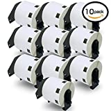 10 Rolls Brother-Compatible DK-11209 29mm x 62mm 8000 Small Address/Barcode Labels Full Set
