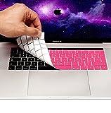 MyGadget Coque Clavier AZERTY pour Apple Macbook New Pro 13/15 2016 + - Protection poussière Silicone Flexible - Couverture Ultra Fine en Rose