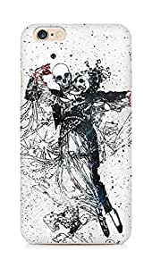 Amez designer printed 3d premium high quality back case cover for Apple iPhone 6 (Skull dance movement paint)