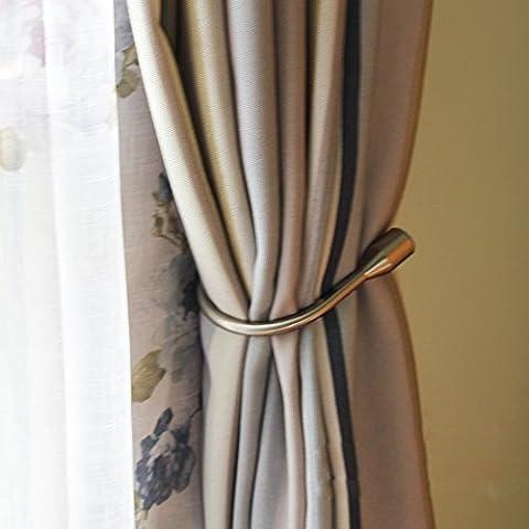 Vorhang Raffhalter, EgoEra® Metall Vorhang Raffhalter Haken Holdbacks Tiebacks / Zugband Haken / Wand U Haken Vorhanghalter Raffhalter, 1 Paar, Bronze