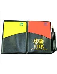 Tarjeta Árbitro de Fútbol de Rojo y Amarillo