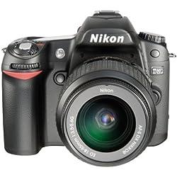 """Nikon D80 + objectif AF-S VR DX 18-55 mm f/3.5-5.6G ED II Appareil photo reflex numérique Moniteur ACL 2,5"""" 10,2 Mpixels Slot mémoire SD"""