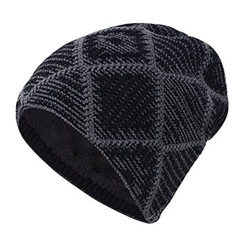 Unisex Knitted Hat iBaste Winter Beanie Hat Outdoor Sports Skiing Hat