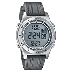 Fastrack Mens Grey Strap Digital Watch