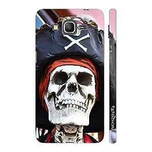 Enthopia Designer Hardshell Case Skull Pirate Back Cover for Samsung Galaxy J2
