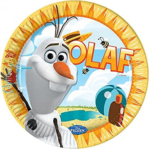 Disney Frozen-Olaf Estate 9inch piatti di carta x 8