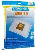 McFilter SBM 10 10x Staubsaugerbeutel für Bosch, Hanseatic, Privileg, Siemens