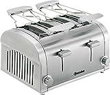 4 Scheiben Toaster / Sandwichtoaster / Röster | Edelstahl Gr. 32 cm x 27 cm