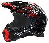 Motorradhelm MX Enduro Quad Helm Road Pirate schwarz rot Gr. S
