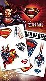 "GB Eye ""Superman Man of Steel, Cartoon"" Tattoo Pack, Multi-Colour"