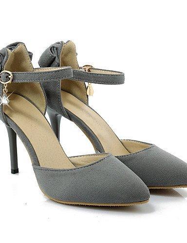ShangYi Chaussures Femme - Mariage / Habillé / Soirée & Evénement - Noir / Rouge / Gris - Talon Aiguille - Talons / Bout Pointu - Talons - Tissu Black