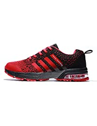 Fushiton Running Shoes Men - Lightweight Mens Trainers Womens Tennis Shoe Walking Air Sneakers Breathable Athletic Training Sport for Women